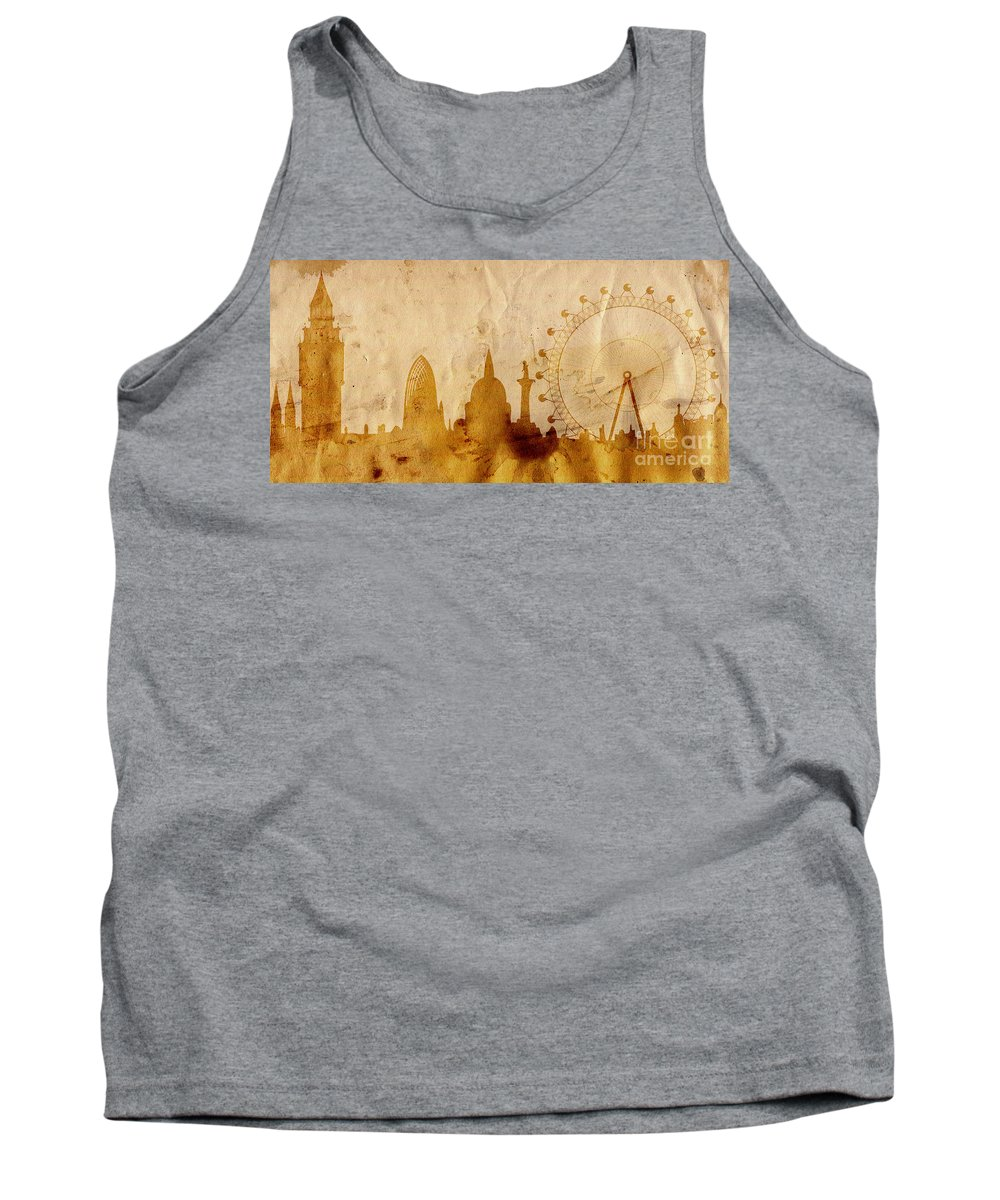London Tank Top featuring the mixed media London by Michal Boubin