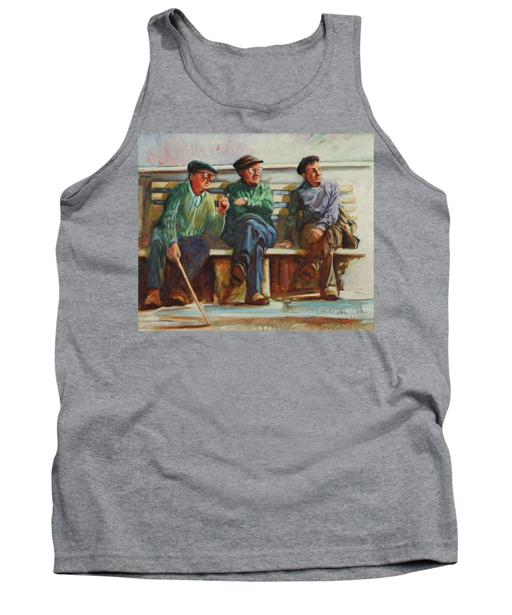 Cafe Tank Top featuring the painting Morning Chat by Rick Nederlof