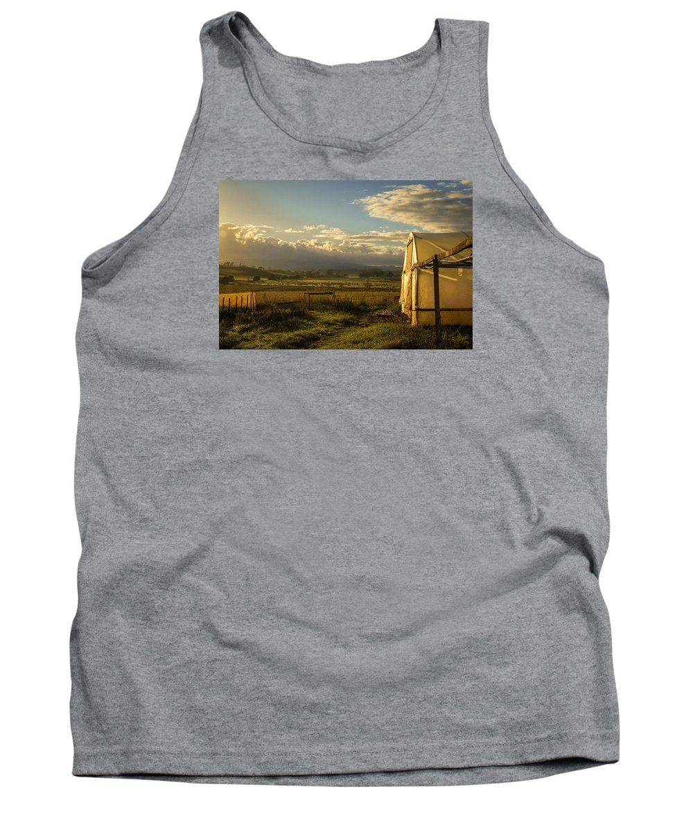 Sunrise Tank Top featuring the photograph Morning, Devonport. by Colum O'Dwyer