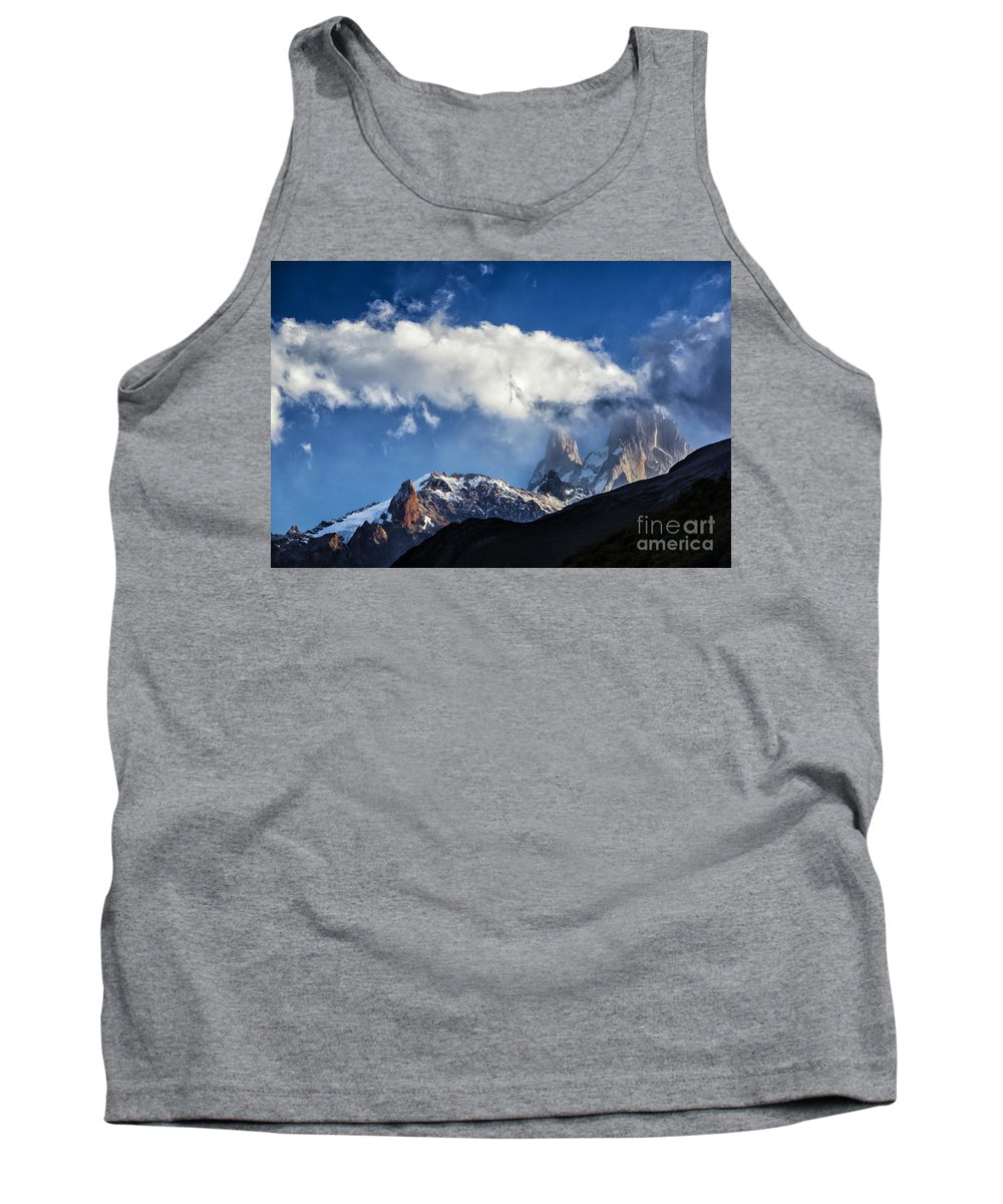 Patagonia Tank Top featuring the photograph Mount Fitz Roy by Timothy Hacker
