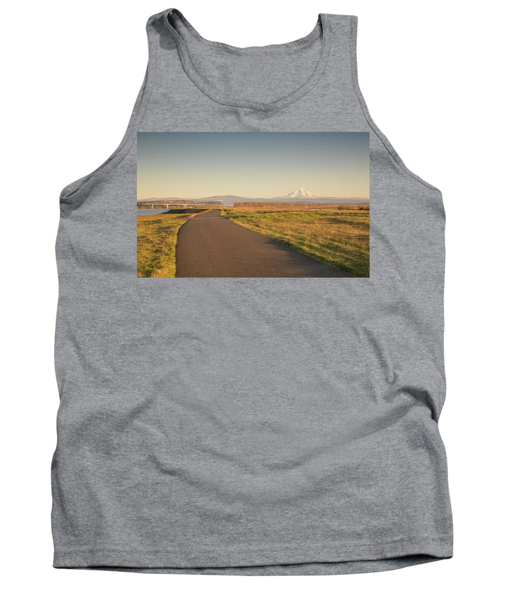 Mount Hood Tank Top featuring the photograph Mt Hood Sunset by Kunal Mehra