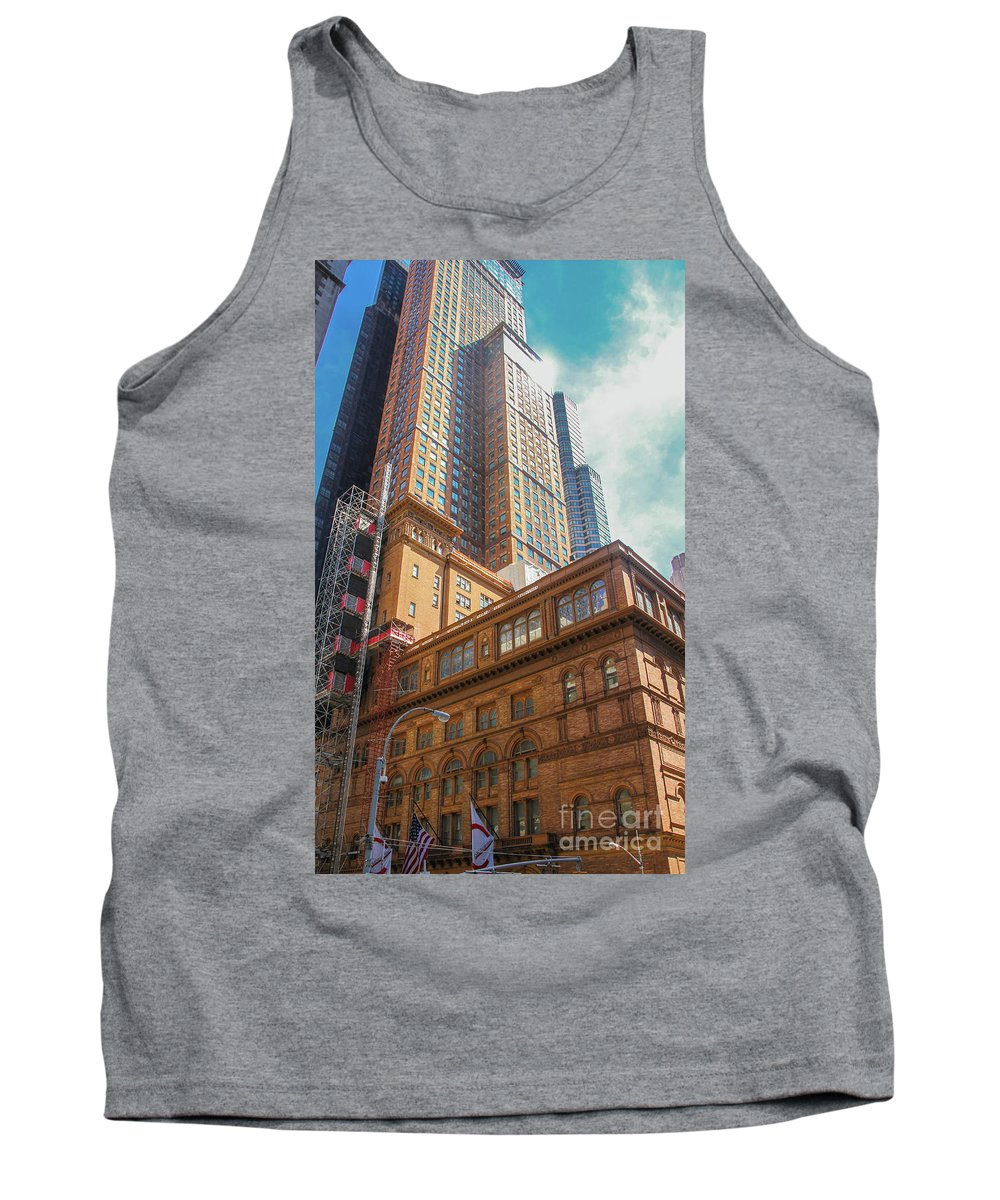 America Tank Top featuring the photograph New York Buildings by Marcelo Santos