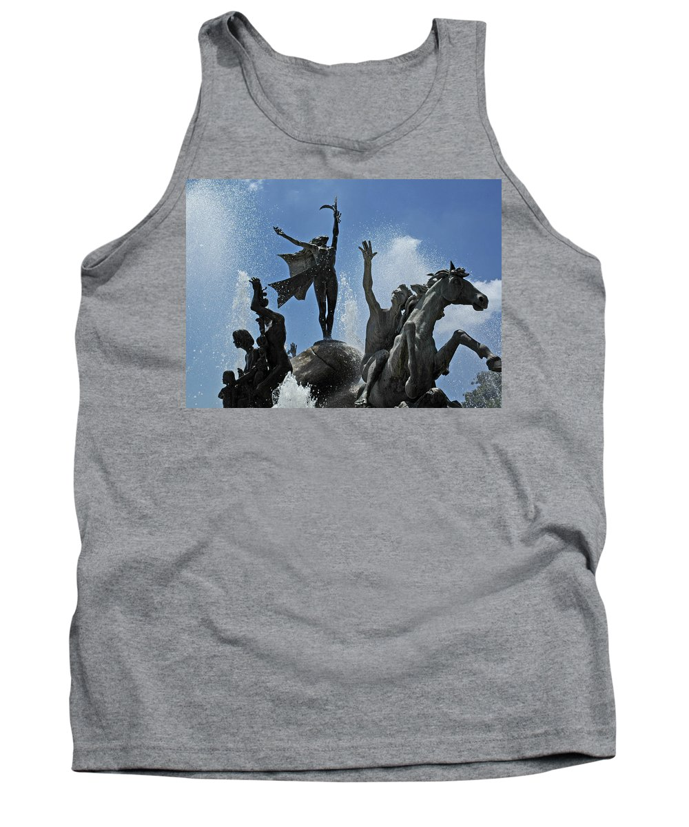 Statue Tank Top featuring the photograph Old San Juan Puerto Rico by Tito Santiago