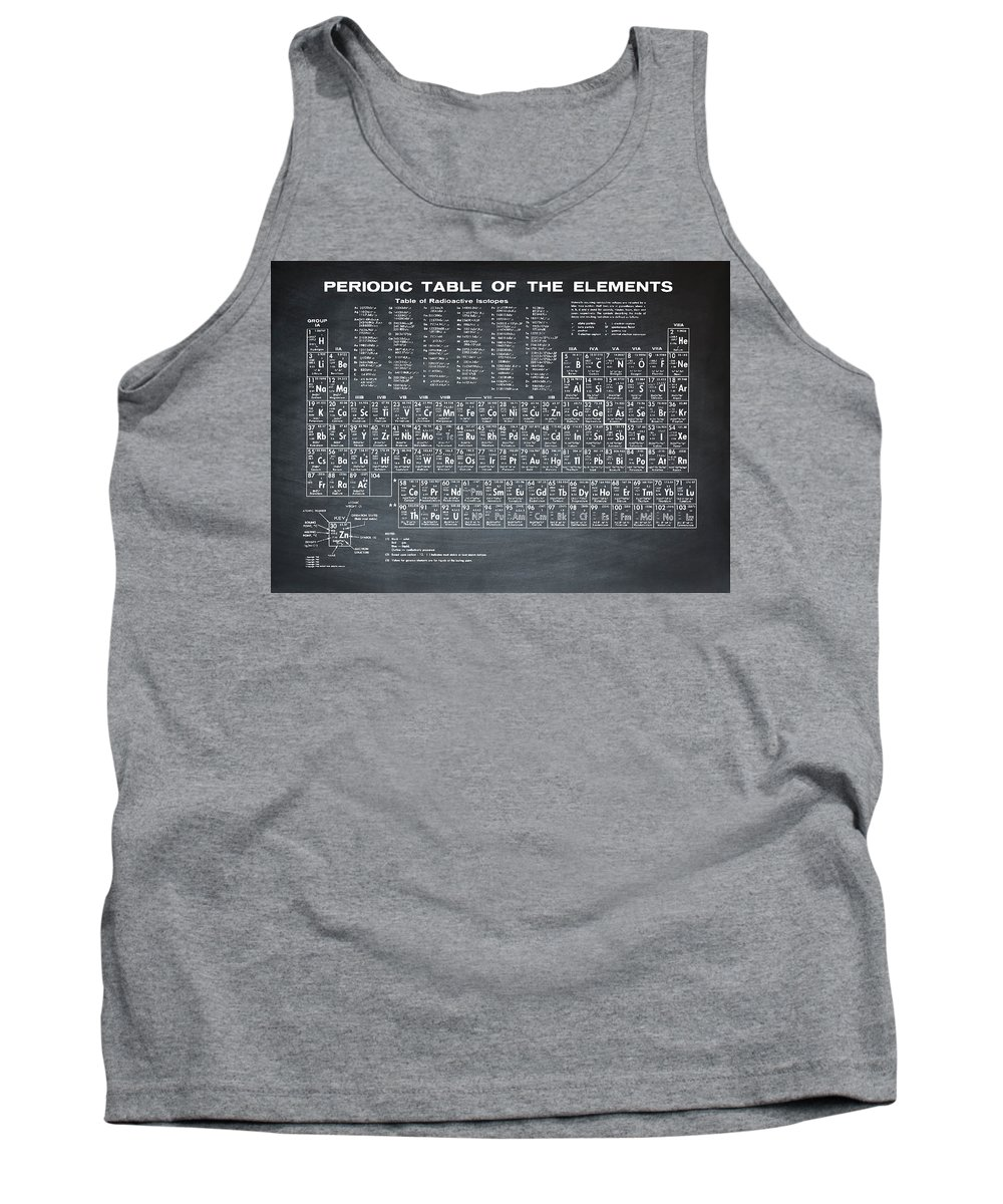 Periodic Tank Top featuring the photograph Periodic Table Of Elements In Black by Bill Cannon