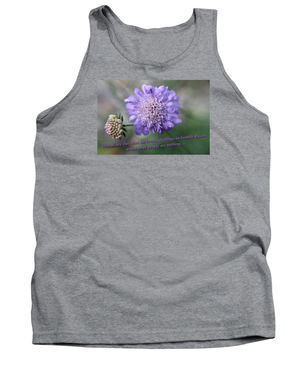 Flower Tank Top featuring the photograph Pin Cushion Flower by Beth Tidd