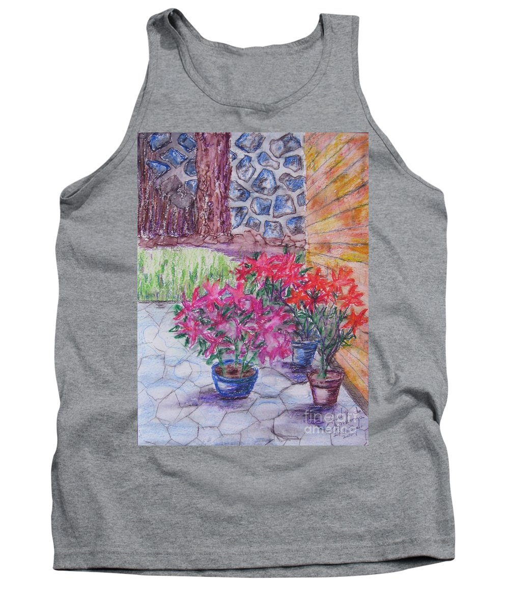 Poinsettias Tank Top featuring the painting Poinsettias - Gifted by Judith Espinoza