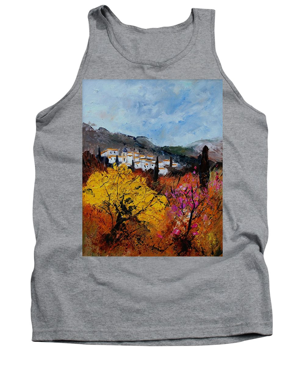 Provence Tank Top featuring the painting Provence by Pol Ledent
