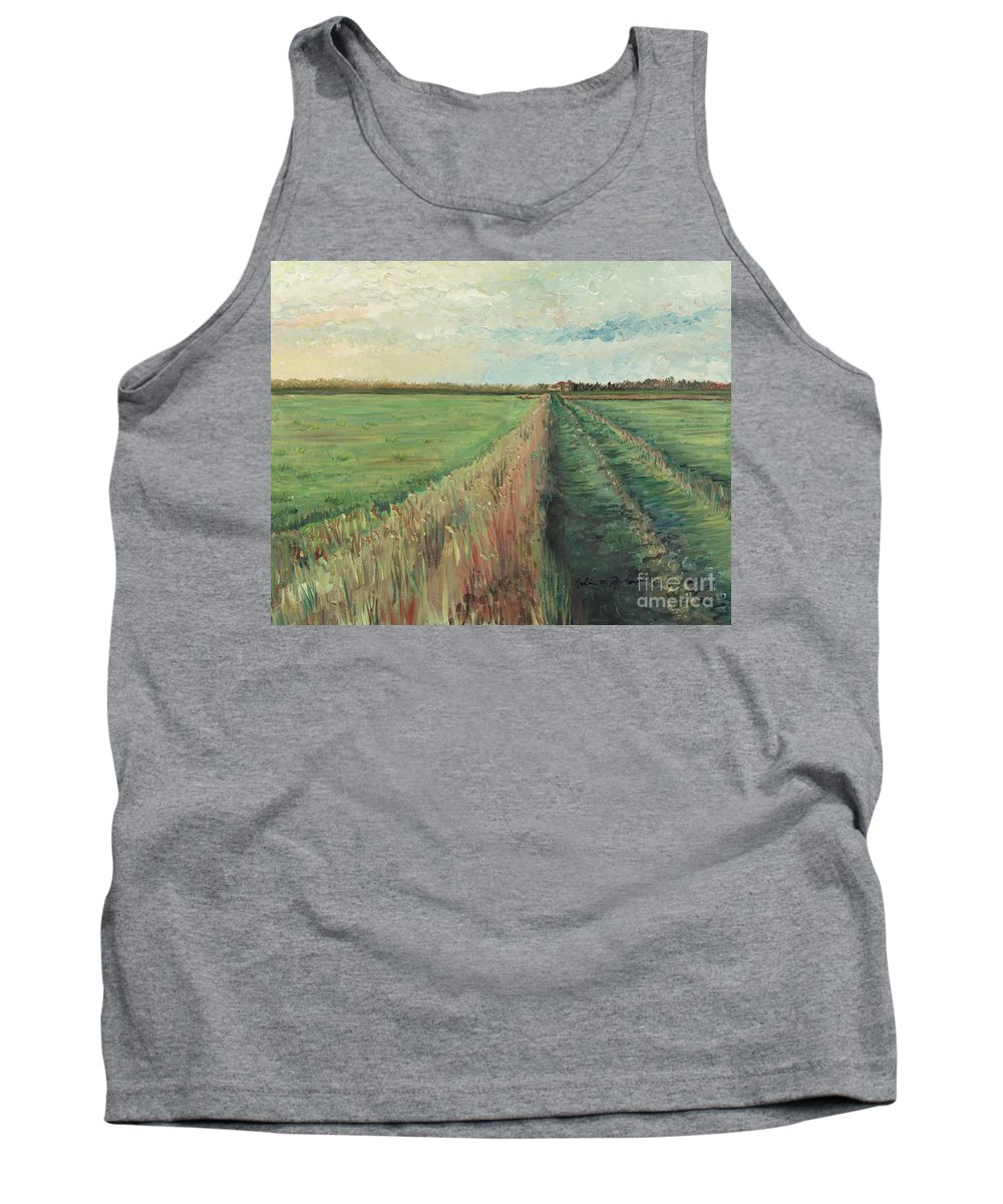 Provence Tank Top featuring the painting Provence Villa by Nadine Rippelmeyer