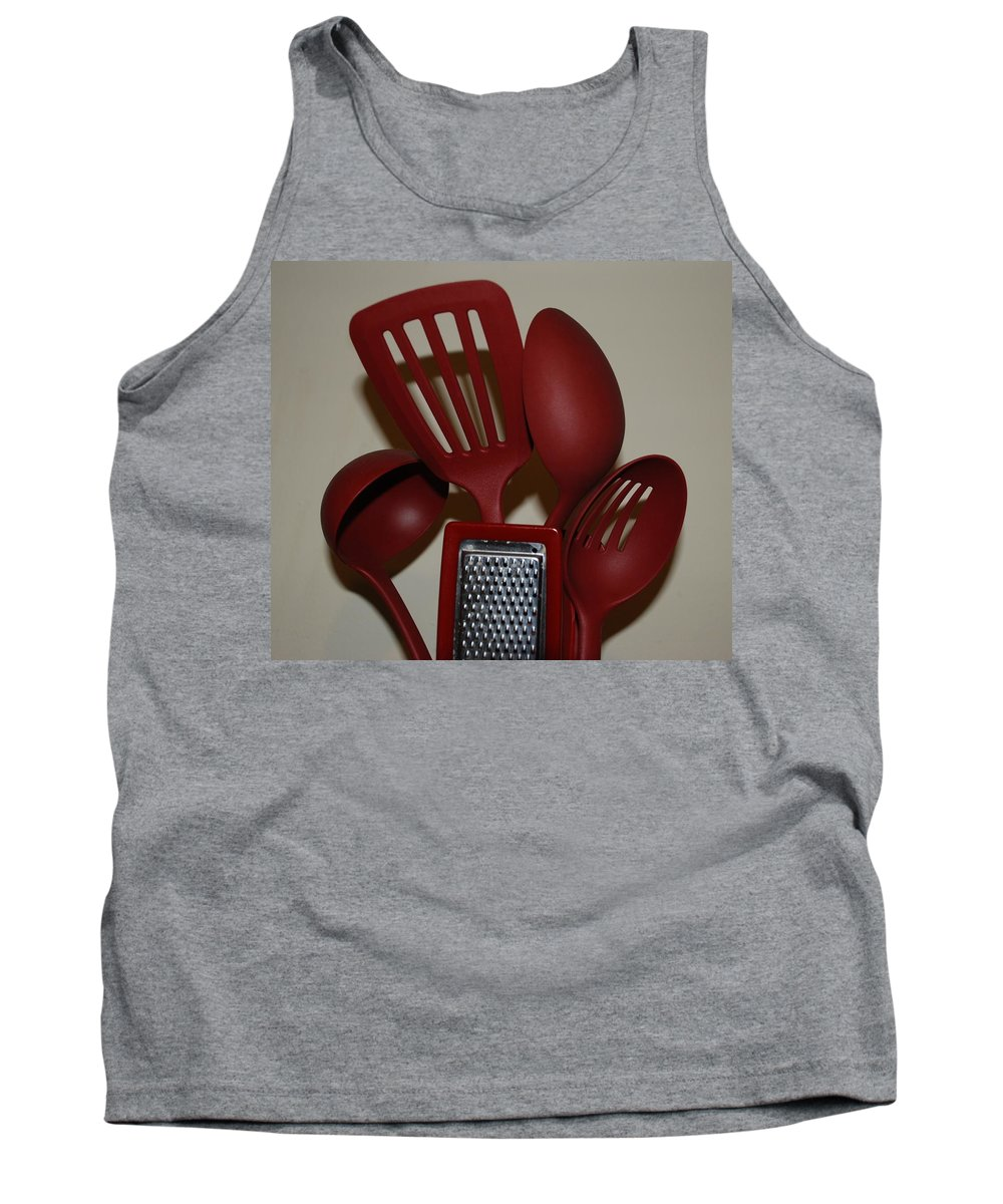 Utencils Tank Top featuring the photograph Red Kitchen Utencils by Rob Hans