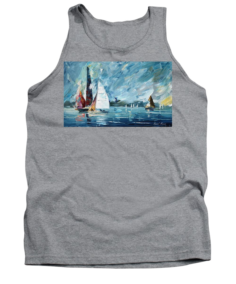 Boat Tank Top featuring the painting Regatta by Leonid Afremov