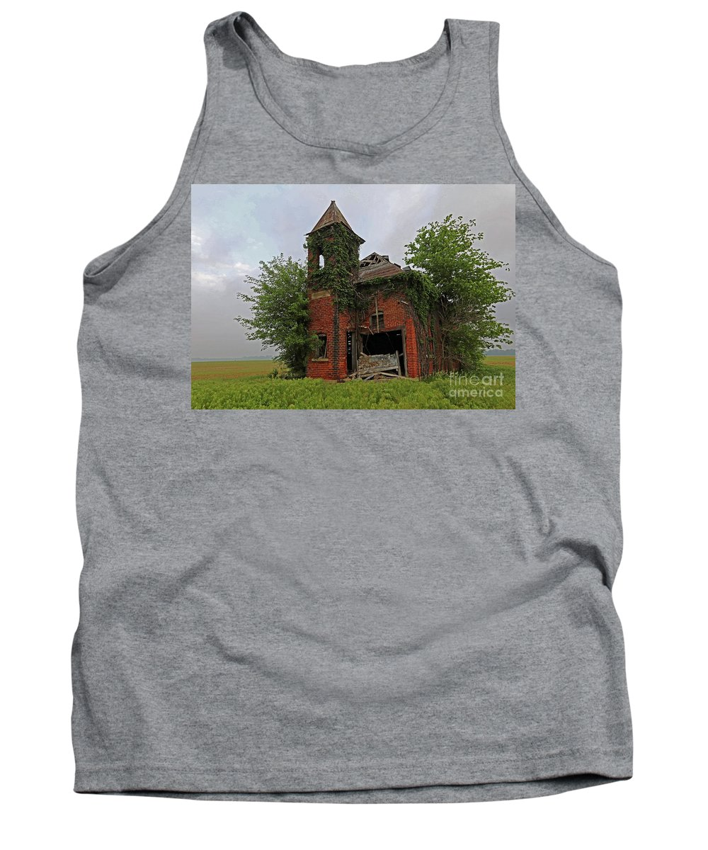 Abandoned Tank Top featuring the photograph School Is Out by Steve Gass