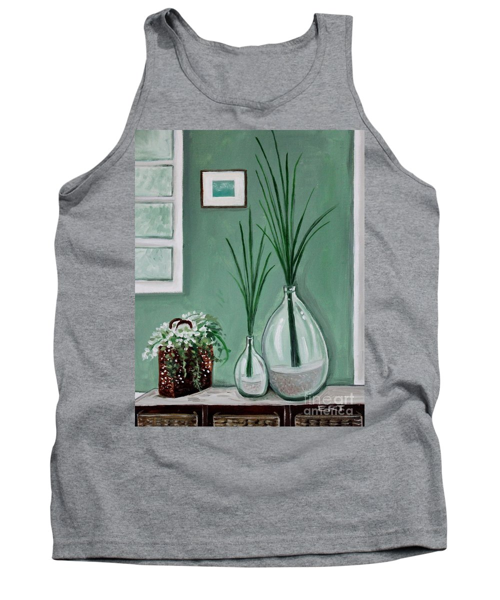 Home Decor Art Tank Top featuring the painting Sea Grass by Elizabeth Robinette Tyndall