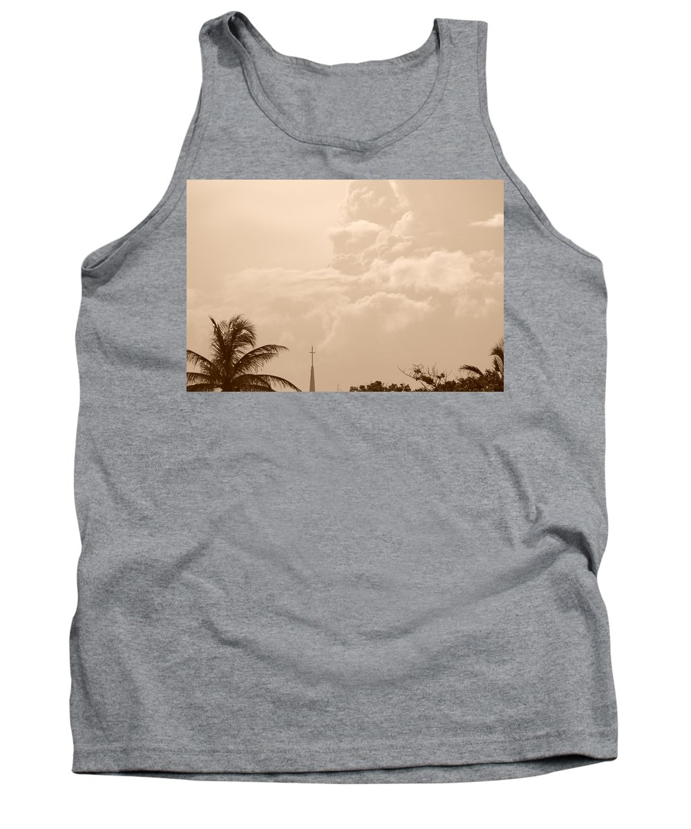 Sepia Tank Top featuring the photograph Sepia Sky by Rob Hans