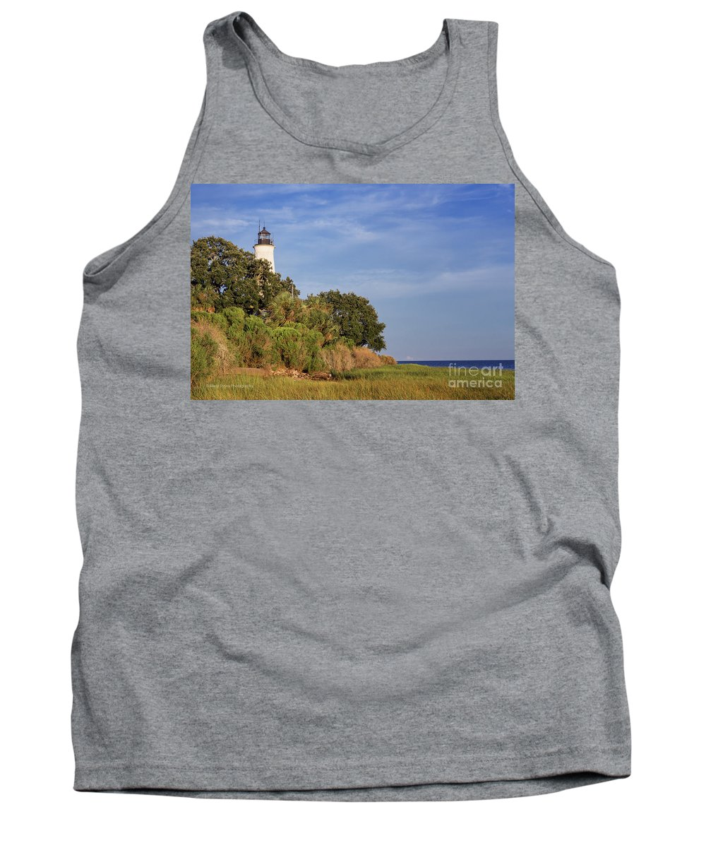 St. Mark's Lighthouse Tank Top featuring the photograph St. Mark's Lighthouse 28 by Maria Struss