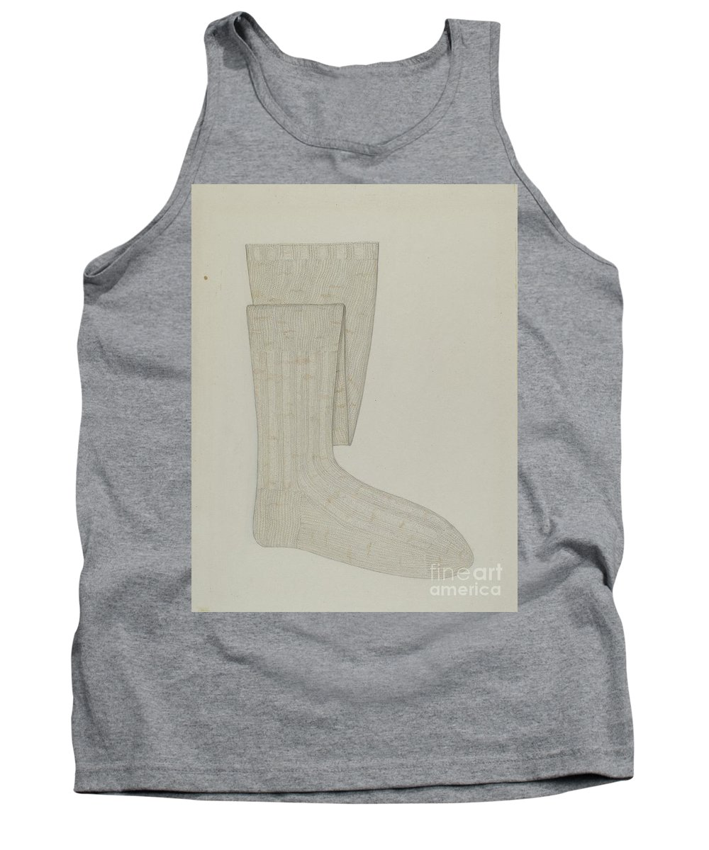 Tank Top featuring the drawing Stockings by Sylvia De Zon