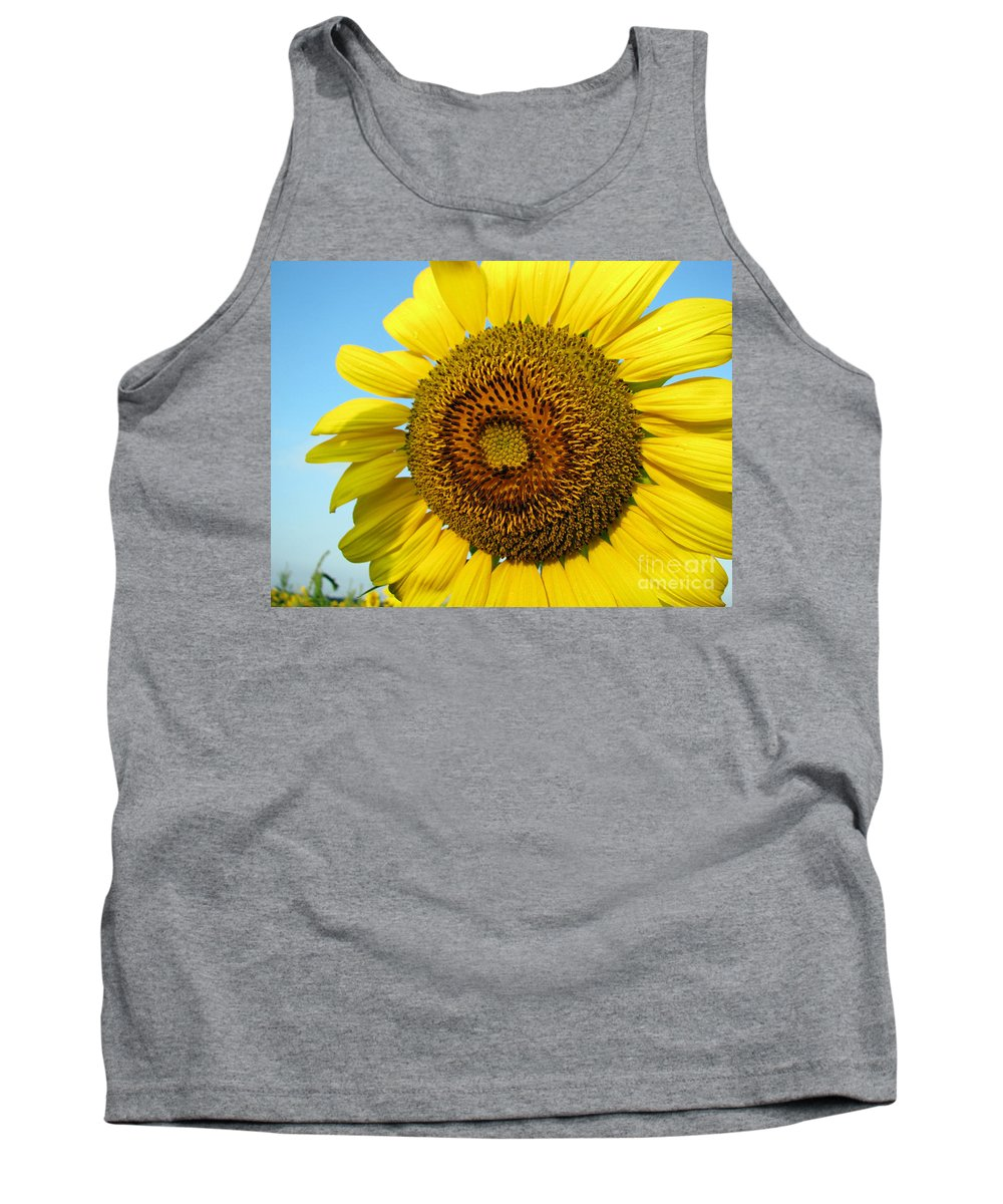 Sunflower Tank Top featuring the photograph Sunflower Series by Amanda Barcon