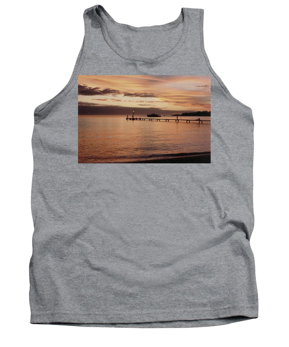 Sunset Tank Top featuring the photograph Sunset In Paradise by Mary-Lee Sanders