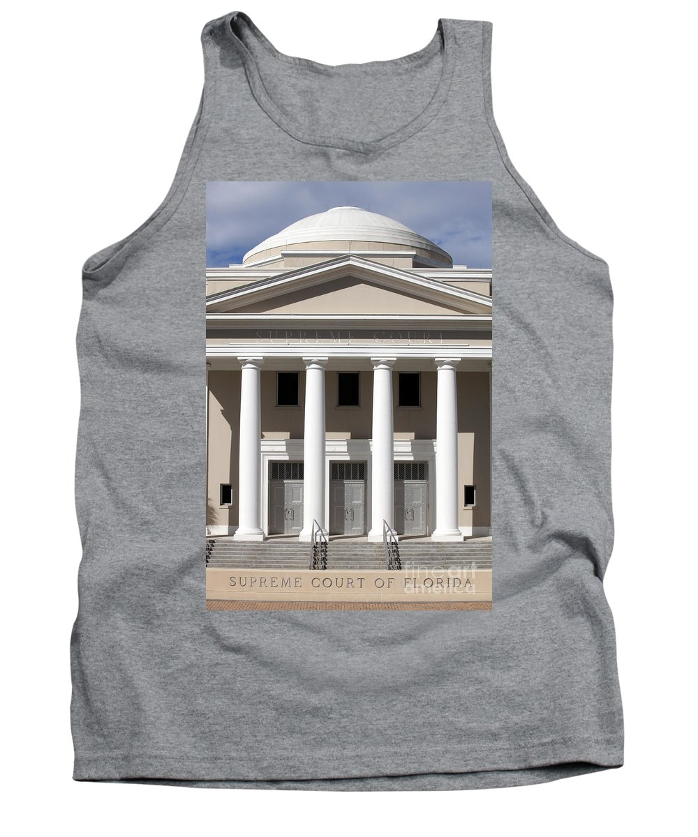 Supreme Court Tank Top featuring the photograph Supreme Courthouse In Tallahassee Florida by Anthony Totah