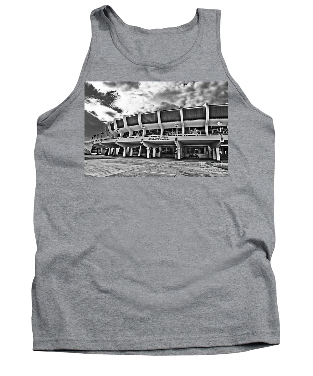 Lsu Tank Top featuring the photograph The P Mac - Bw by Scott Pellegrin