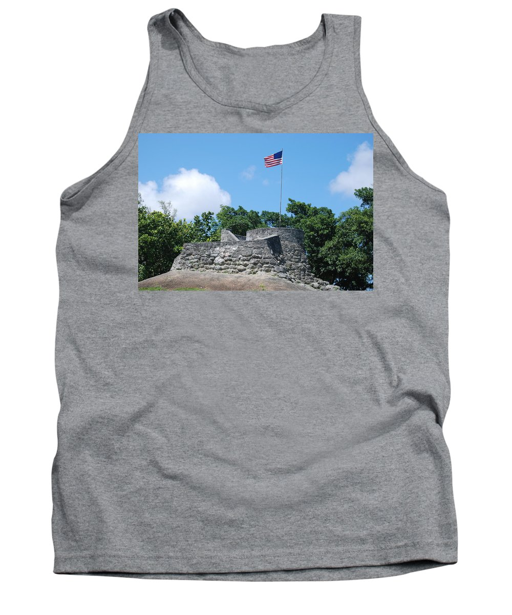 American Flag Tank Top featuring the photograph The Stand by Rob Hans