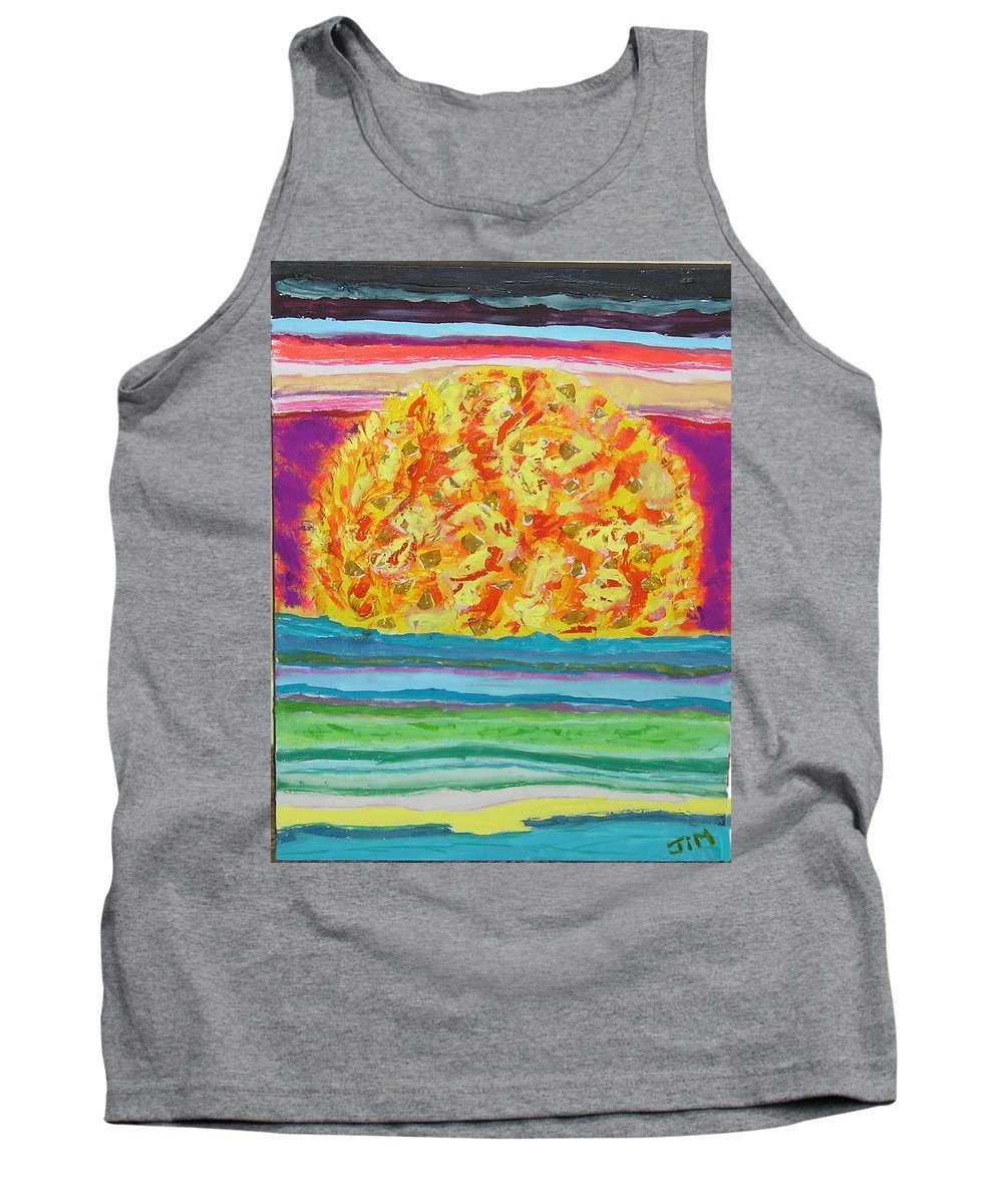 Hot Tank Top featuring the painting The Sun Drinks The Ocean And Eats The Sky by James Campbell
