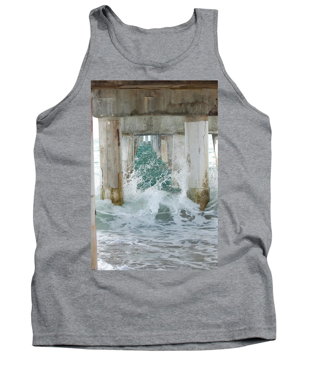Ocean Tank Top featuring the photograph Under The Boardwalk by Rob Hans