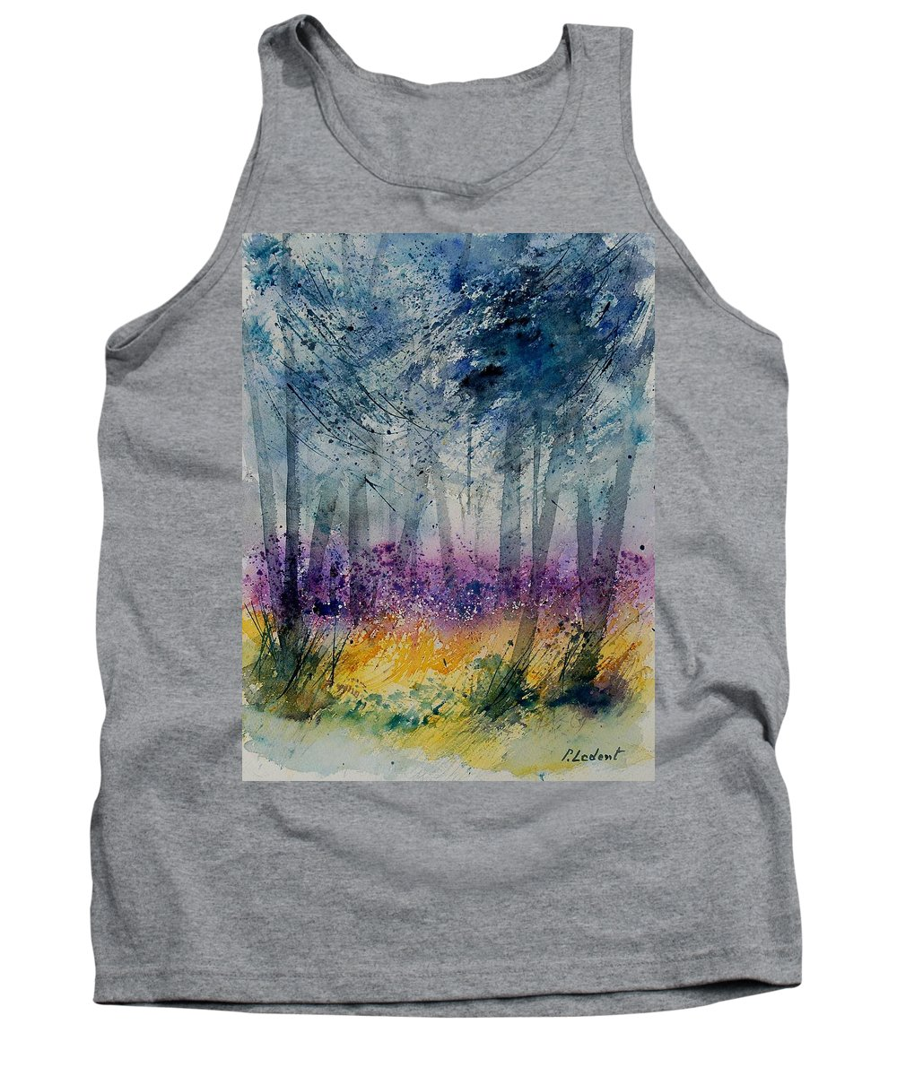 Flowers Tank Top featuring the painting Watercolor 130608 by Pol Ledent