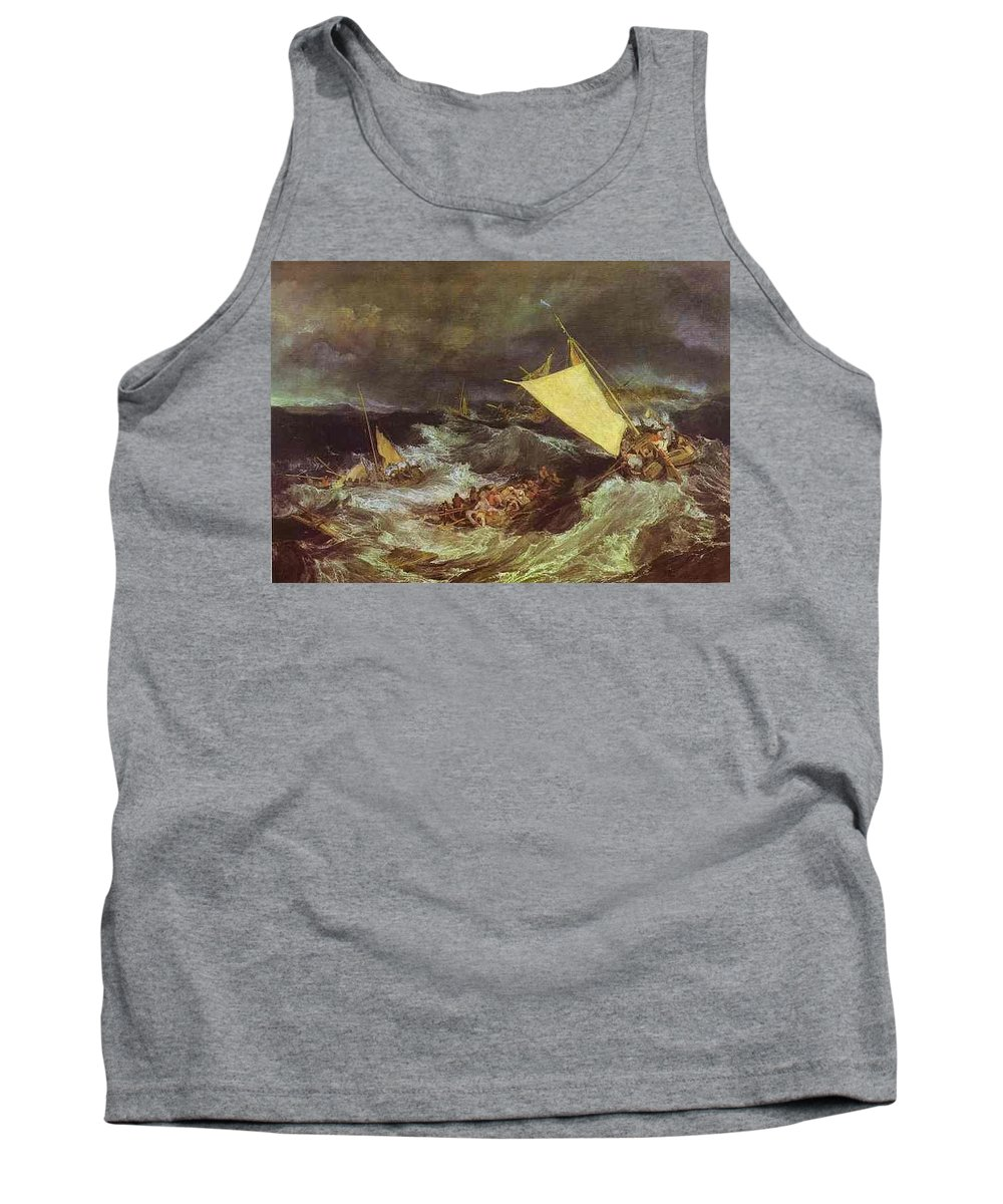 Insect Tank Top featuring the digital art William Turner - The Shipwreck Joseph Mallord William Turner by Eloisa Mannion
