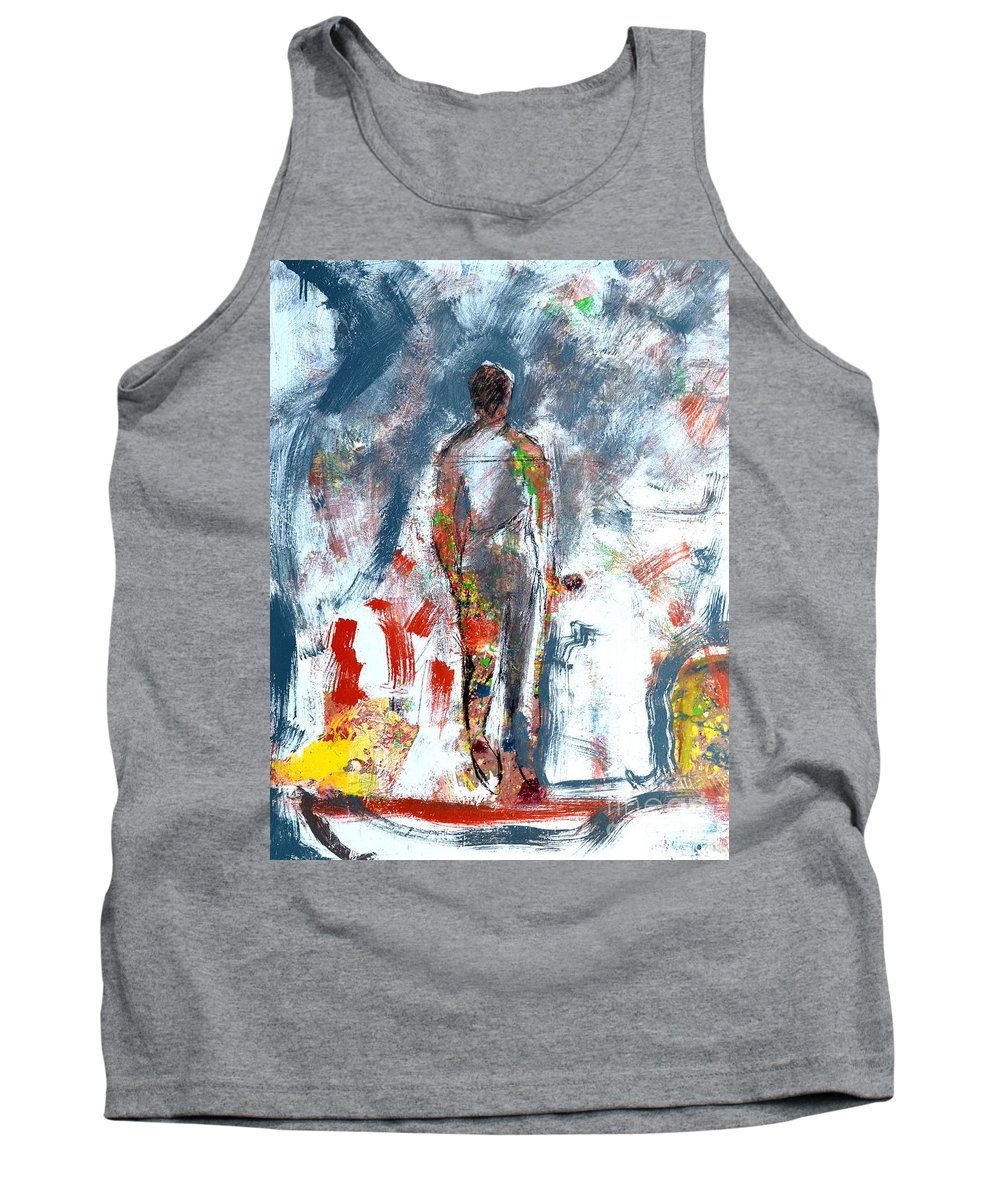 Abstract Tank Top featuring the painting Challenge 2017 Save Europe Www.gracedivine.com by Grace Divine