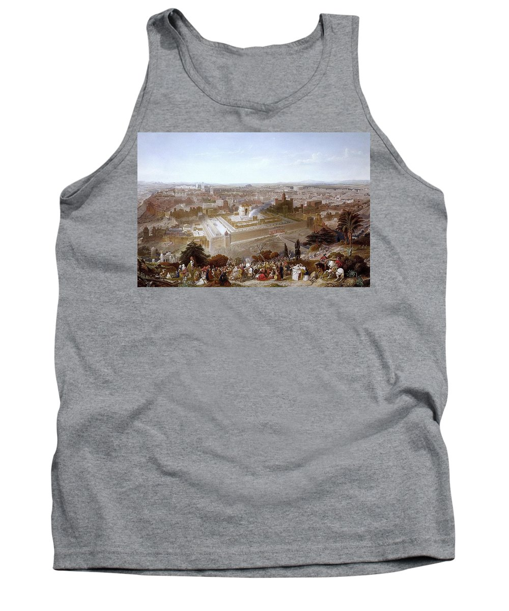 Fortress Tank Top featuring the digital art Jerusalem In Her Grandeur 1860 Henry Courtney Selous by Eloisa Mannion