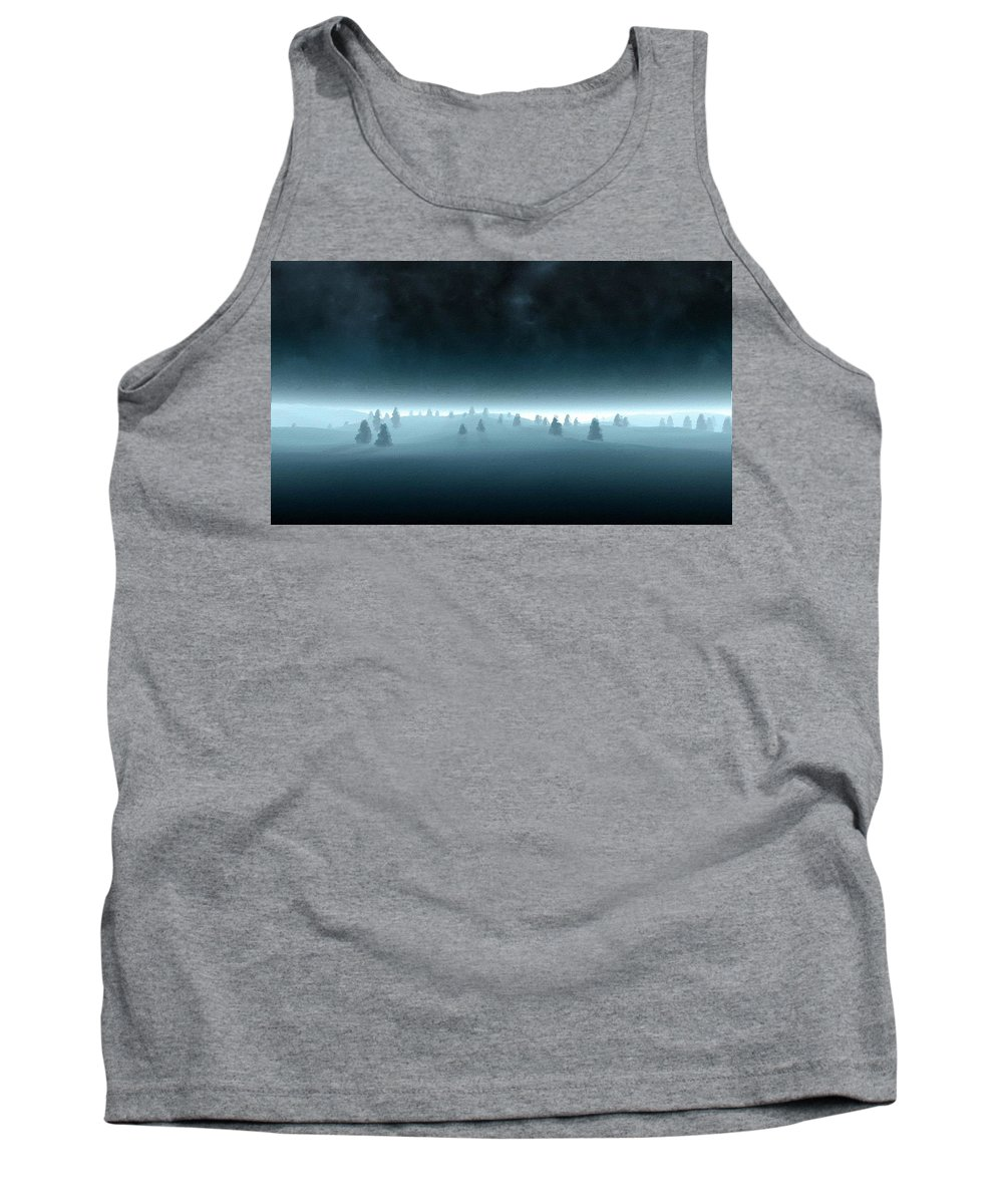Paint Tank Top featuring the digital art Landscape Oil by Usa Map