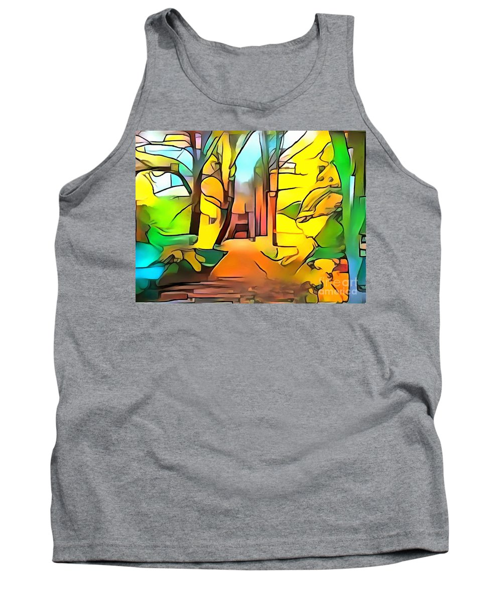 Abstract Tank Top featuring the digital art Landscape by Sergey Tihonov