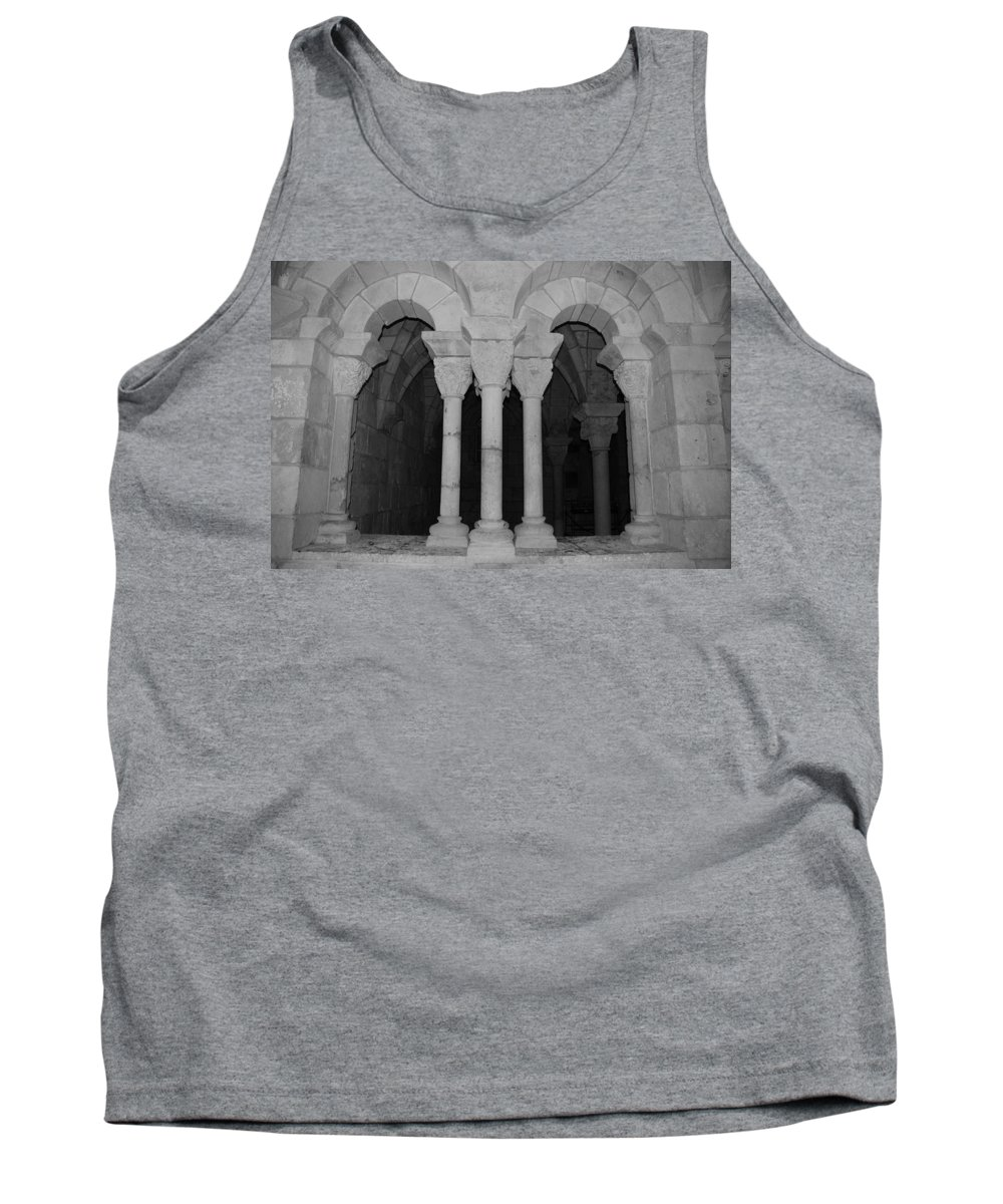 Black And White Tank Top featuring the photograph Miami Monastery by Rob Hans
