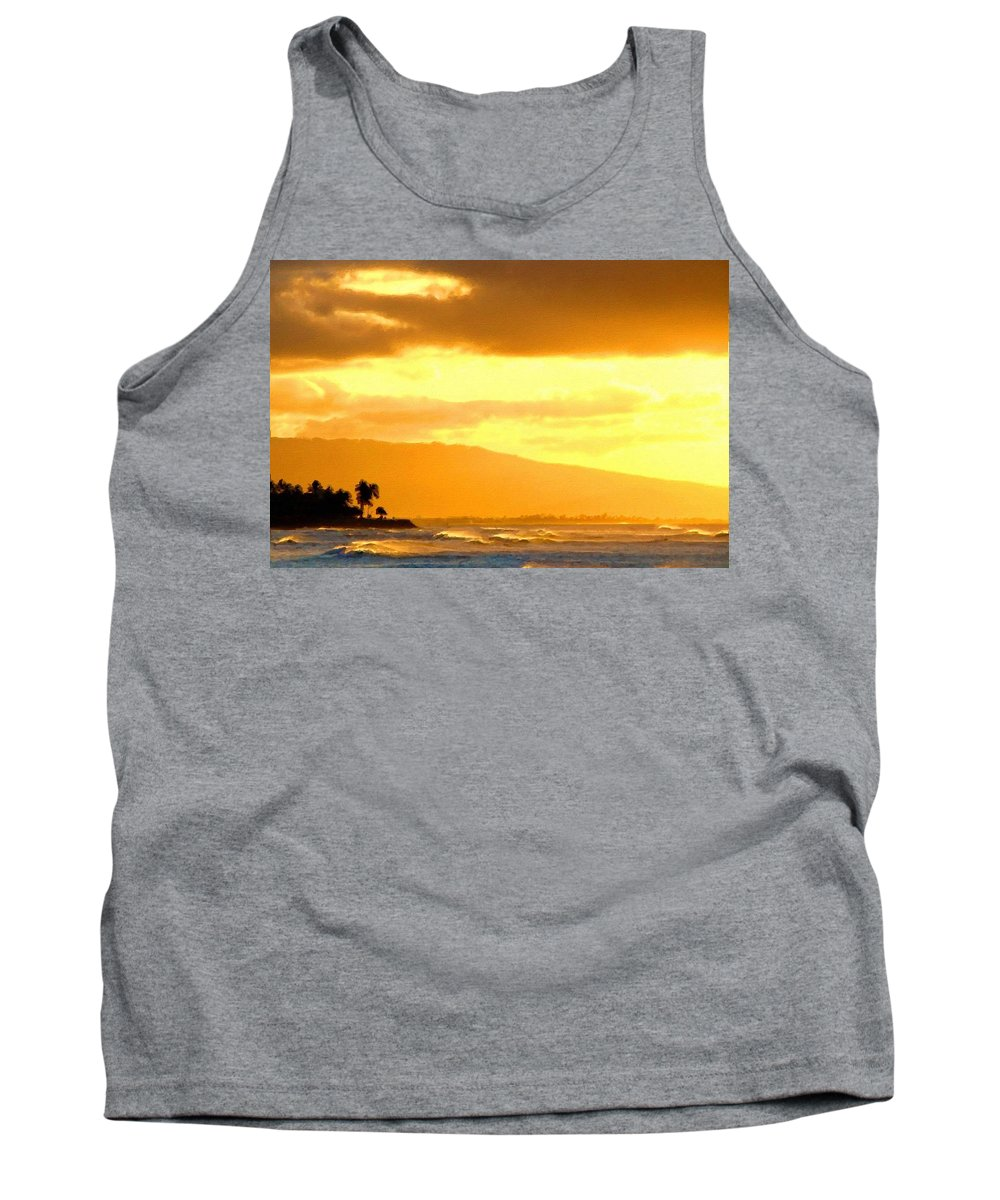 Natural Tank Top featuring the digital art Original Landscape Paintings by Usa Map