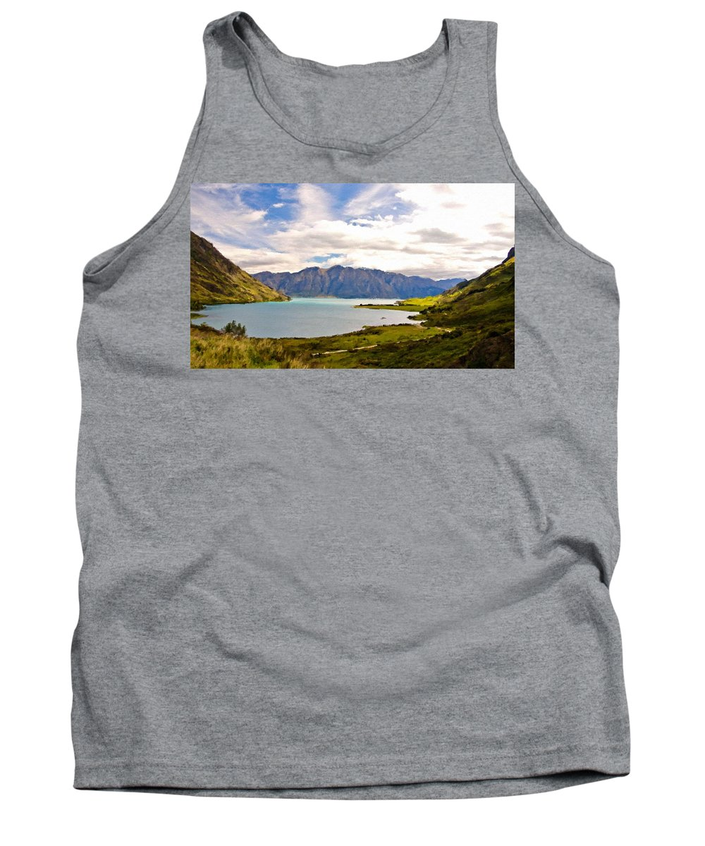 Drawings Tank Top featuring the digital art Pro Landscape by Usa Map