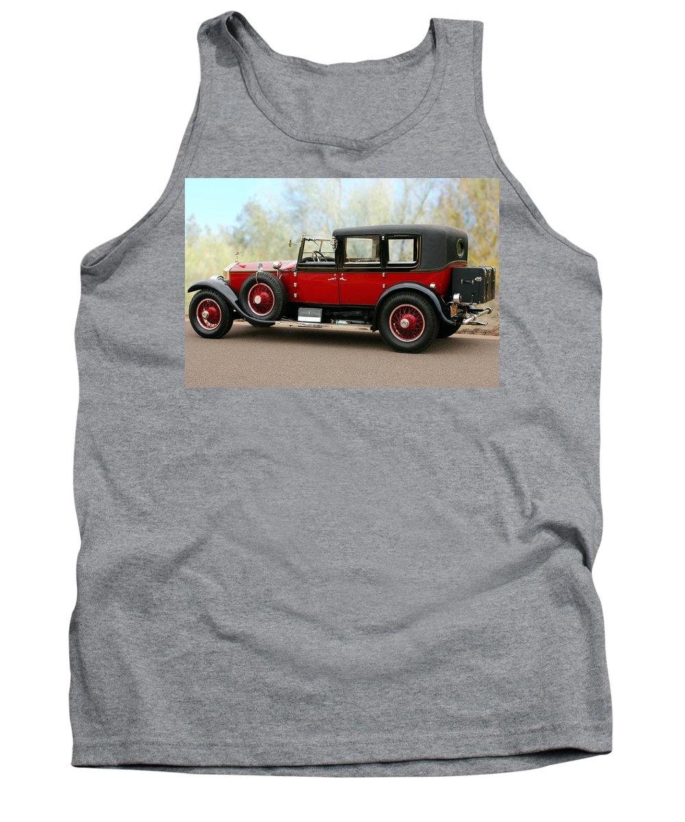 Classic Car Tank Top featuring the photograph 1928 Rolls-royce Phantom 1 by Jill Reger