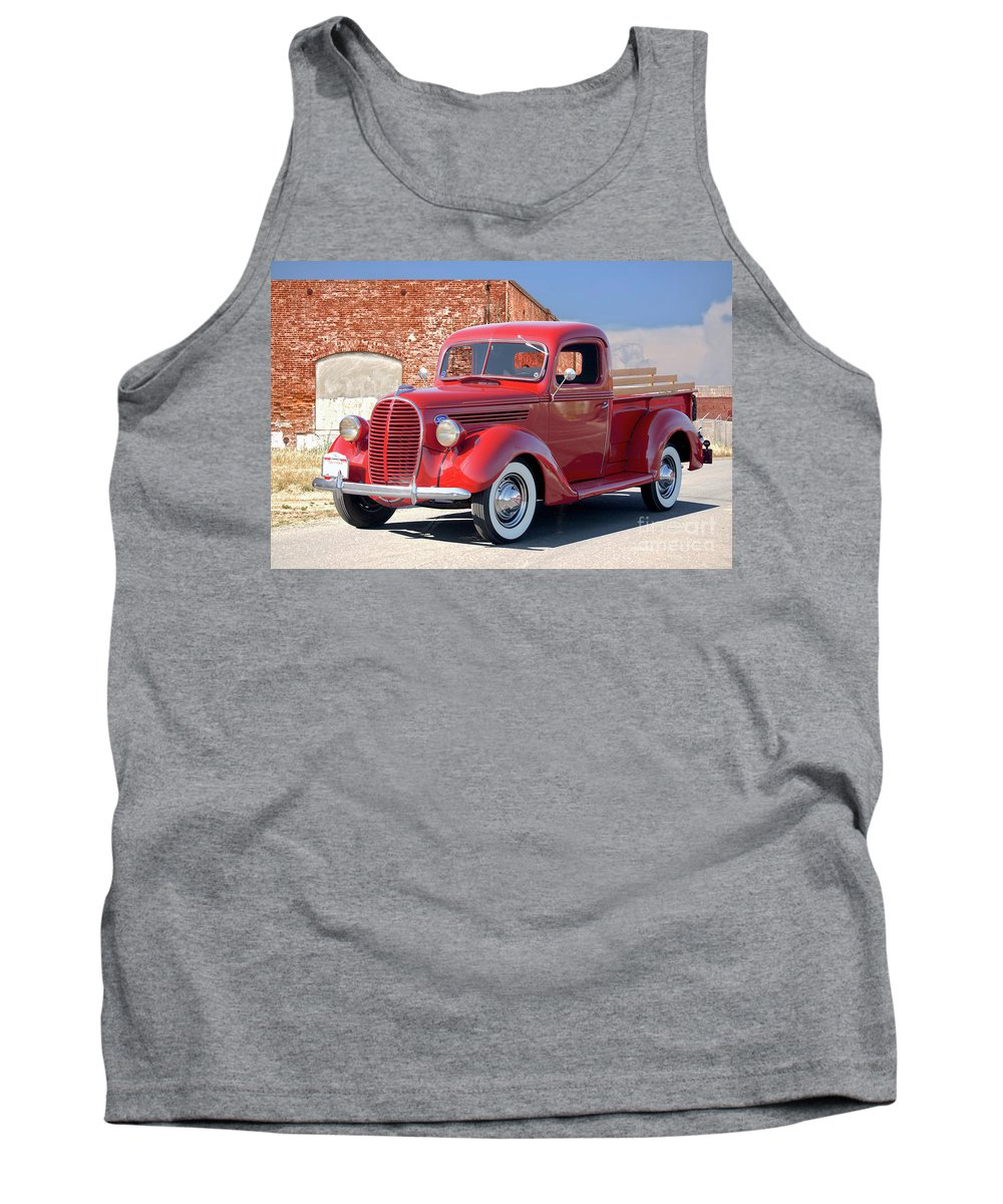 Automobile Tank Top featuring the photograph 1939 Ford 'stake Bed' Pickup Truck I by Dave Koontz