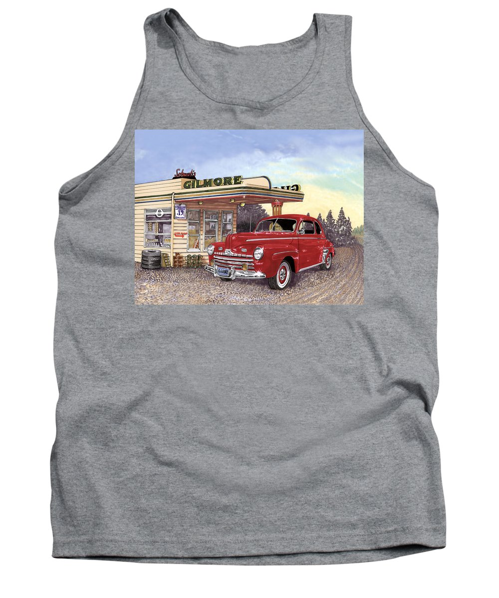 1946 Ford Deluxe Coupe Art Tank Top featuring the painting 1946 Ford Deluxe Coupe by Jack Pumphrey