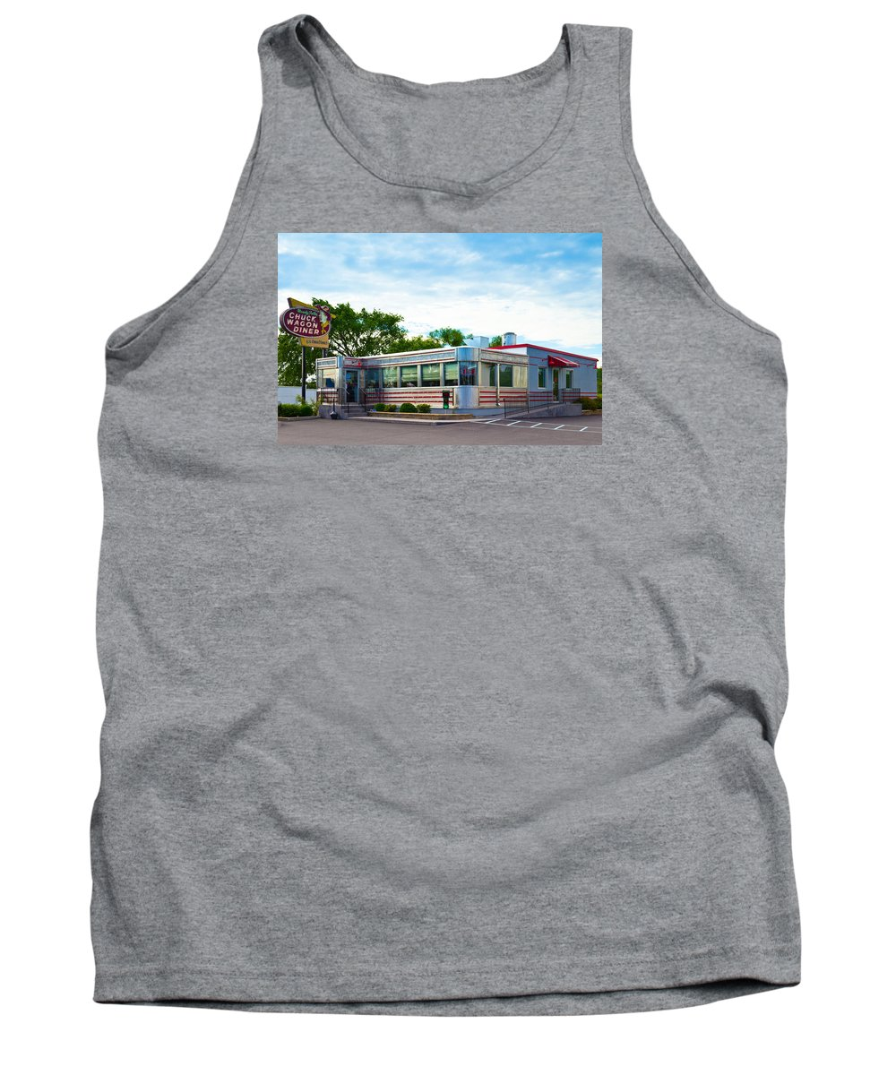 1950's Tank Top featuring the photograph 1950's Diner by Lynne Albright