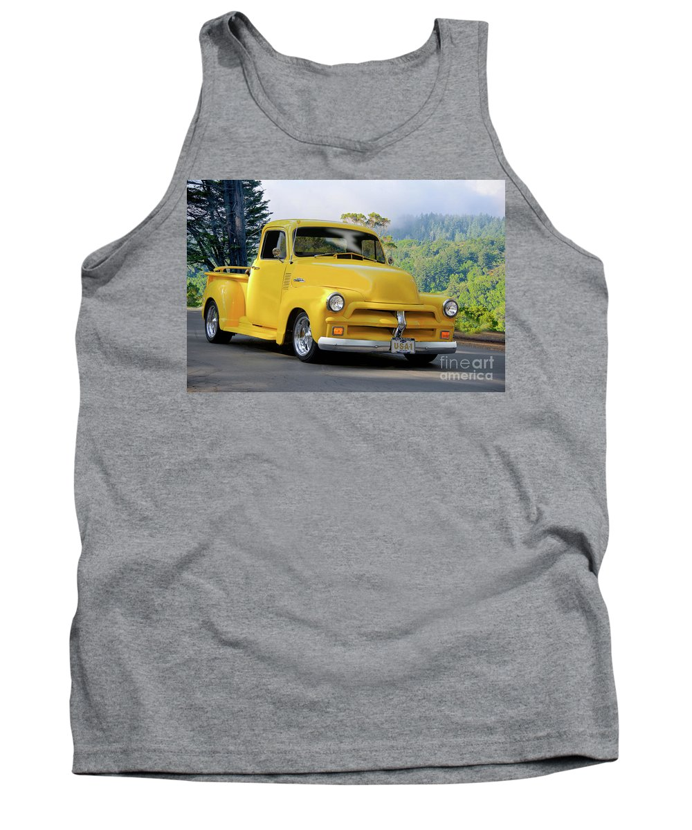 Automobile Tank Top featuring the photograph 1953 Chevrolet Stepside Pickup I by Dave Koontz