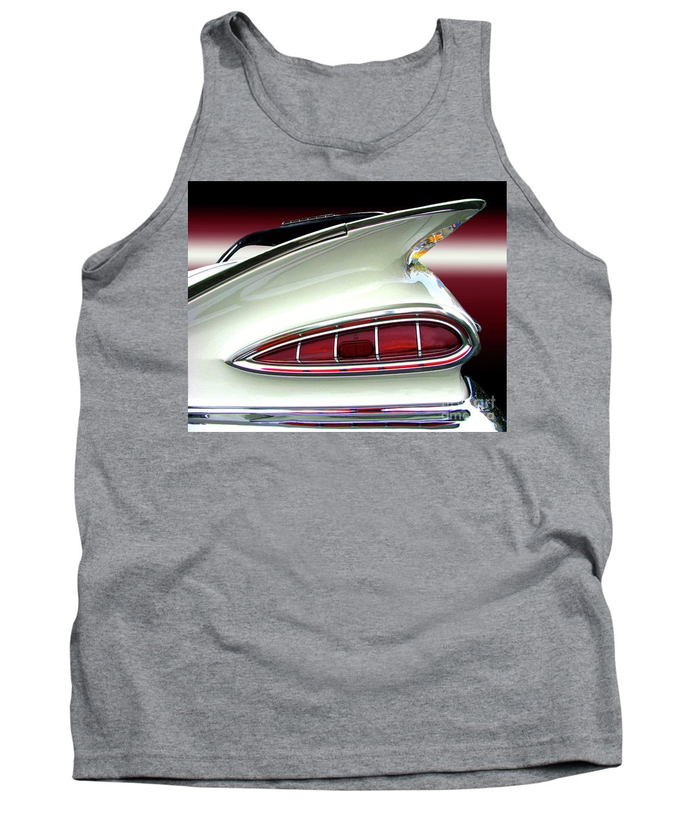 Transportation Tank Top featuring the photograph 1959 Chevrolet Impala Tail by Peter Piatt