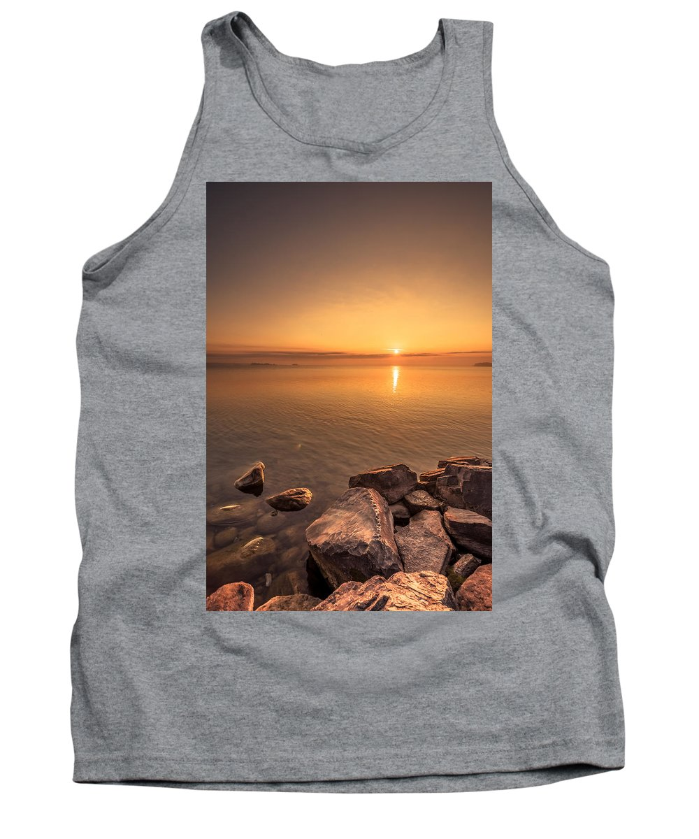 Sunrise Tank Top featuring the photograph Sunrise At Sibbald Point by Aqnus Febriyant