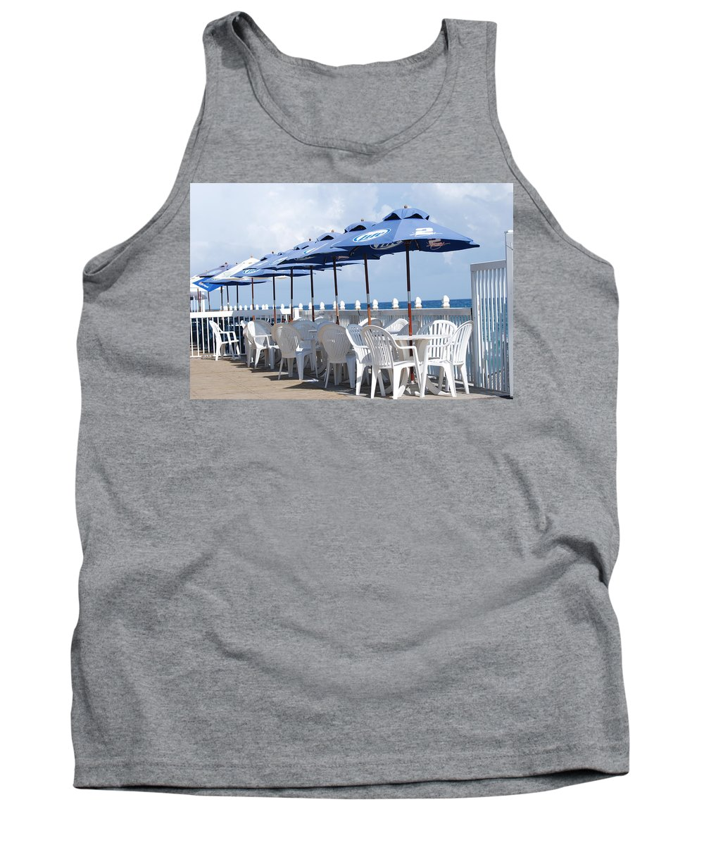 Chairs Tank Top featuring the photograph Beer Unbrellas by Rob Hans