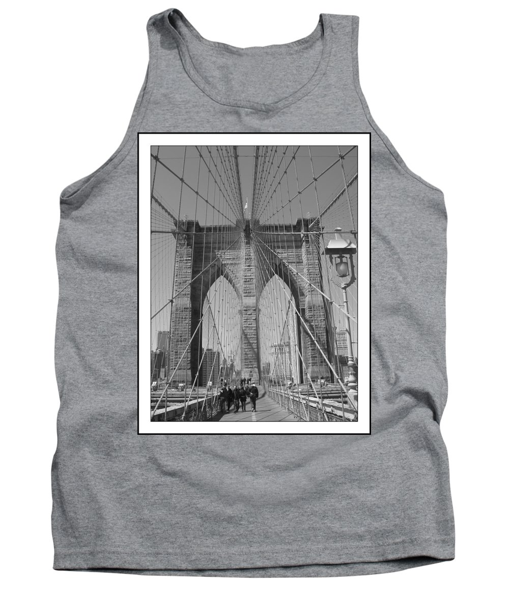 Brooklyn Bridge Tank Top featuring the painting Brooklyn Bridge by Habib Ayat