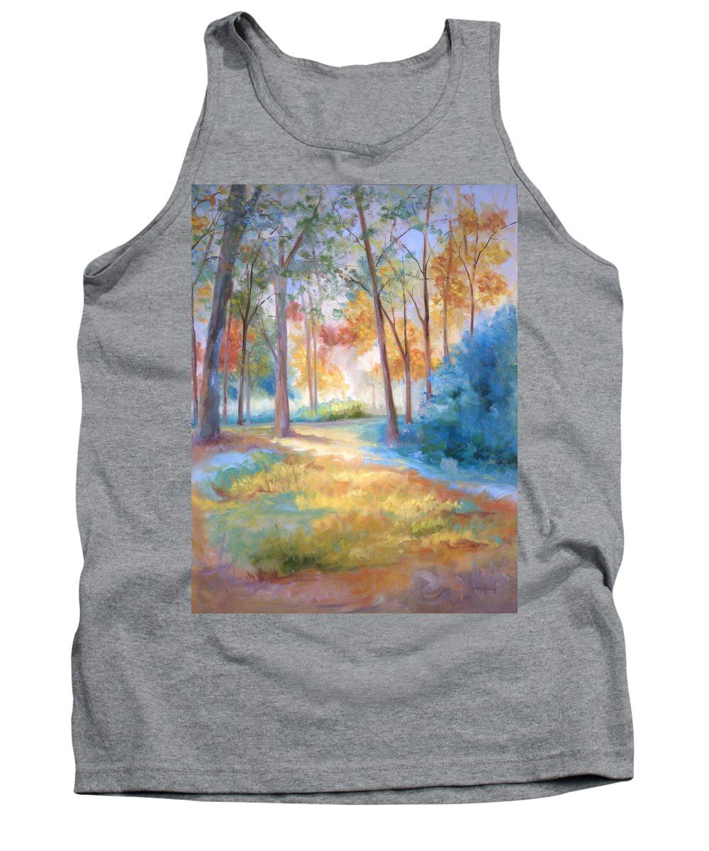 Wooded Paths Tank Top featuring the painting Homeward by Ginger Concepcion