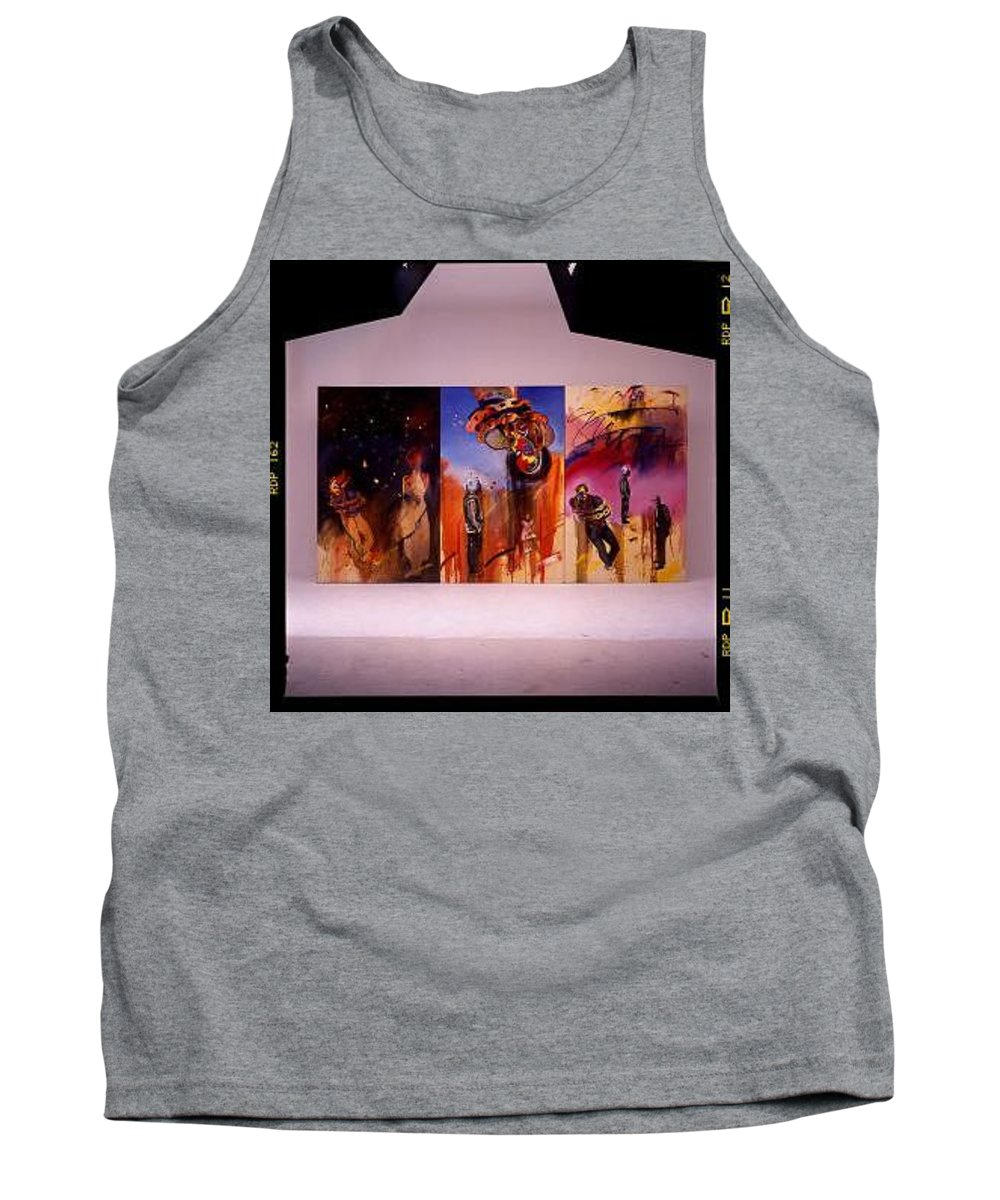Canvas Tank Top featuring the painting Love Hurts by Charles Stuart