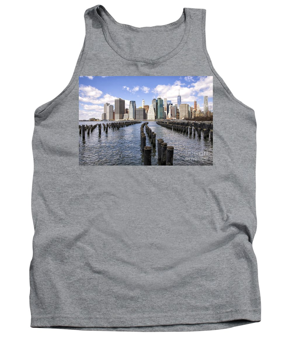New Tank Top featuring the photograph Manhattan by Paul Fell