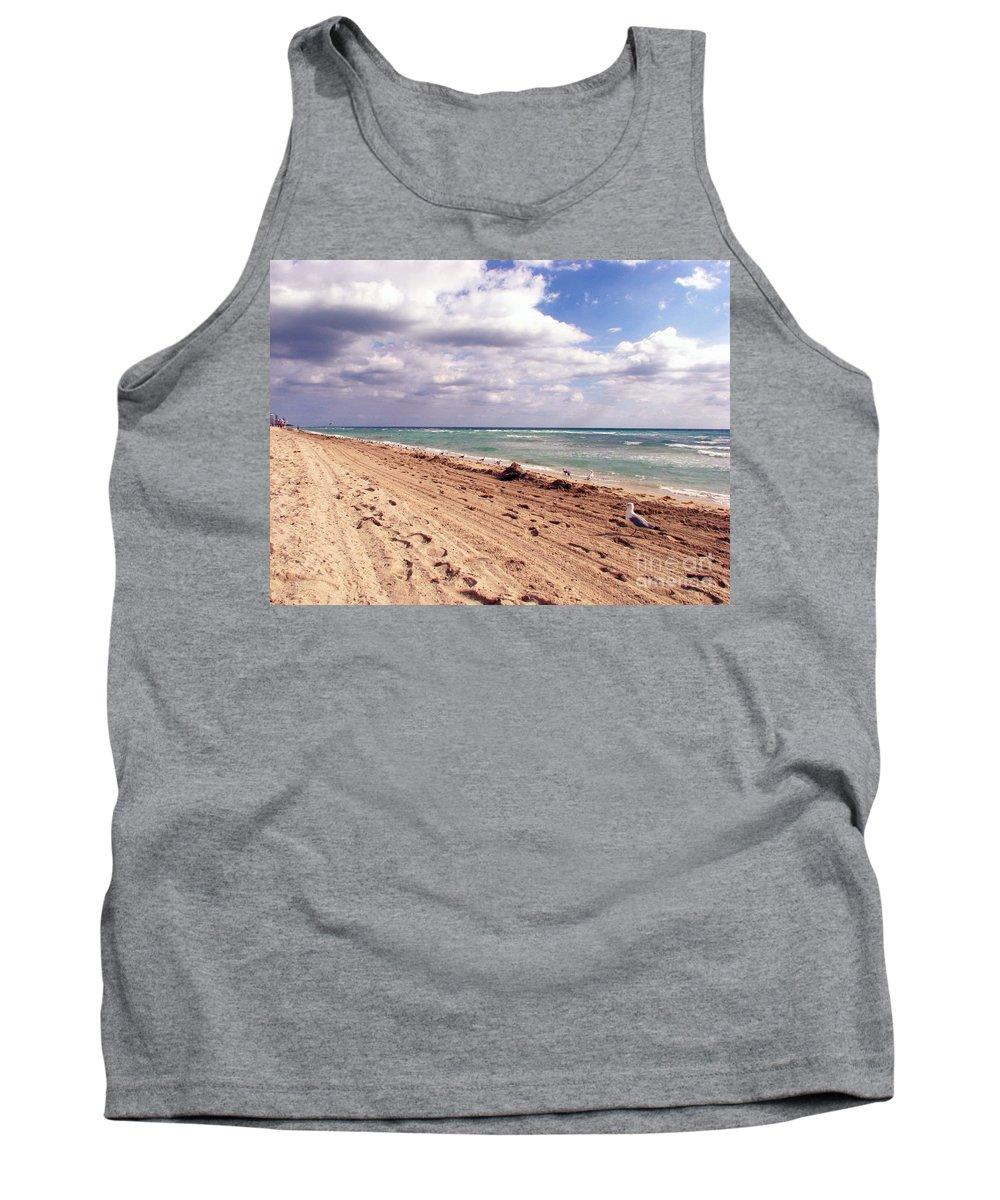 Beaches Tank Top featuring the photograph Miami Beach by Amanda Barcon