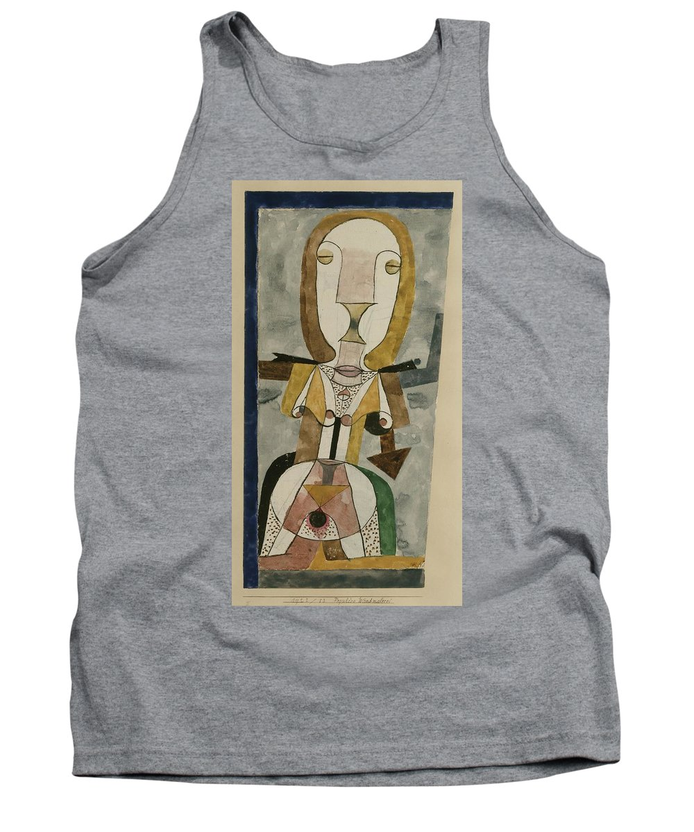 Paul Klee Popular Wall-painting Tank Top featuring the painting Popular Wall-painting by Paul Klee