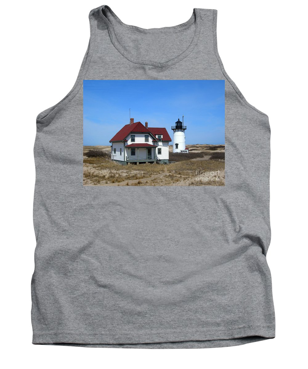 Lighthouses Tank Top featuring the photograph Race Point Lighthouse by Skip Willits